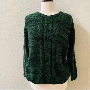 PAPER CRANE green open back knit sweater S